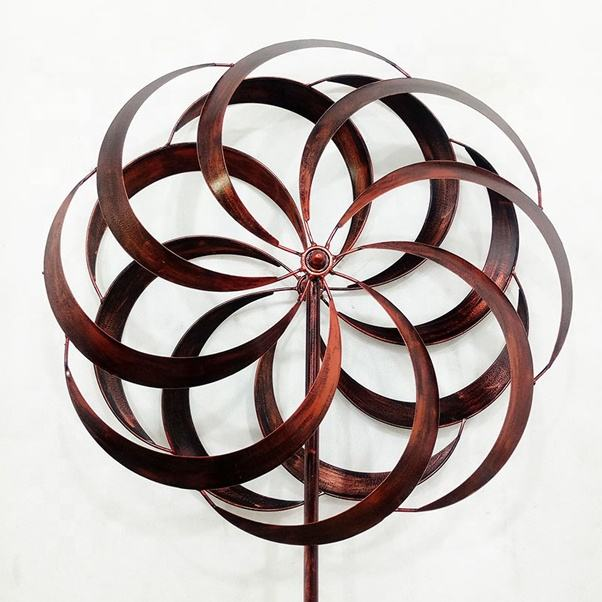 Stock Wholesale Metal Wind Spinner For Garden