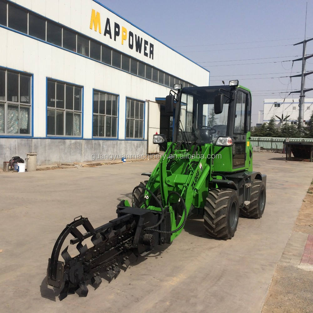 2015 4wd hydrostatic transmission front loader with 3 cylinders engine , mini wheel loader