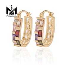 2019 IPMIN main pusher amazing hoop earring 18K gold ear rings