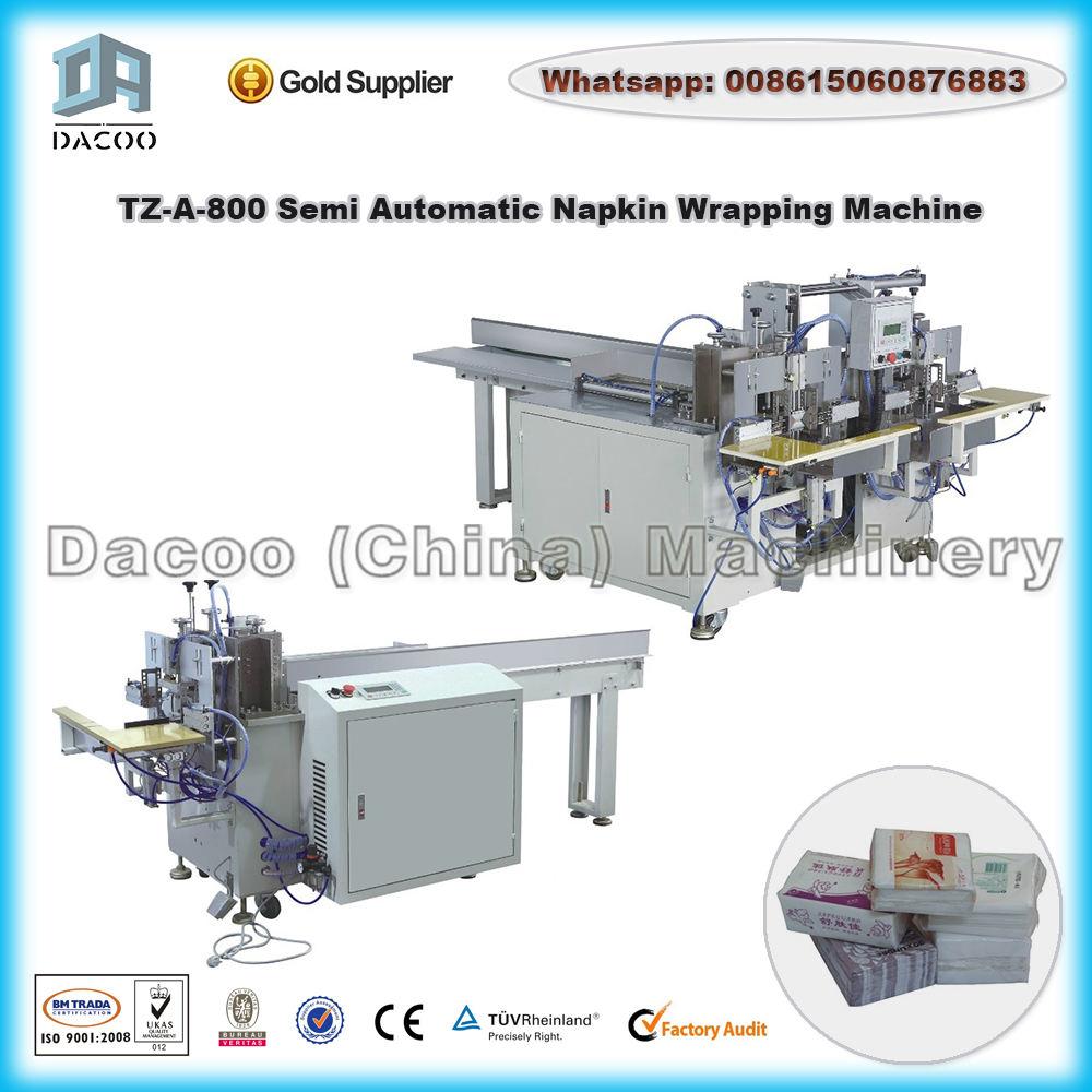 Servilleta Semi Automática Máquina De Embalaje