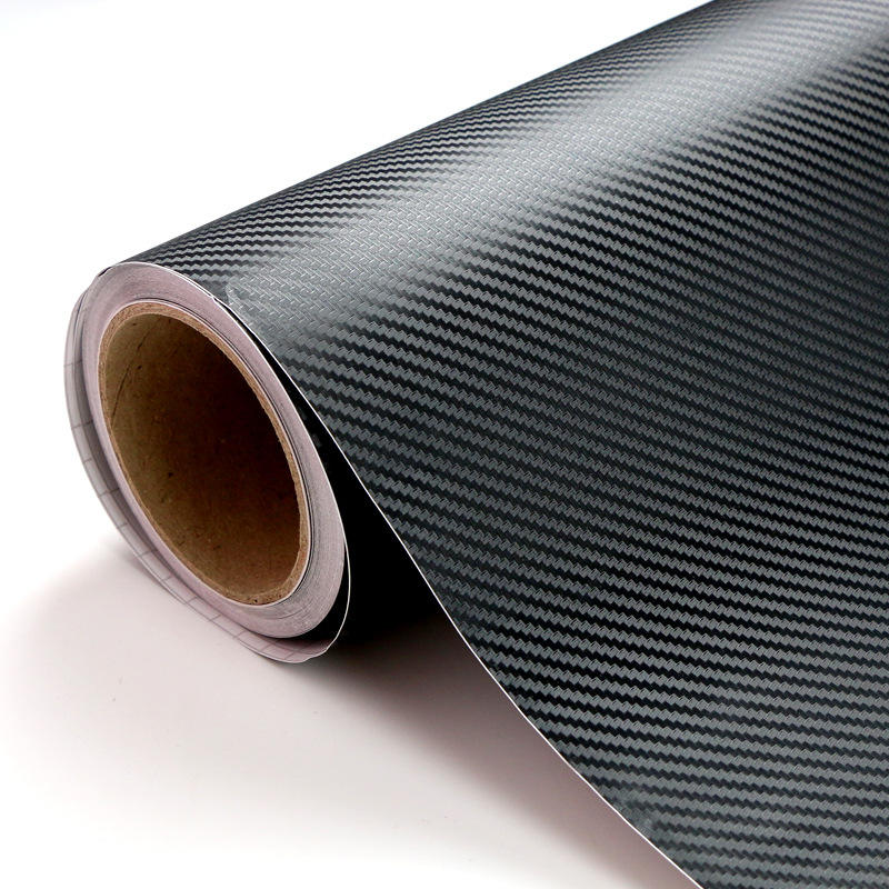 127x30CM Black Car Interior Panel 3D Carbon Fiber Vinyl Wrap Sticker Film