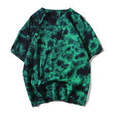 2019 fashion short sleeve 4xl loose color 100% cotton special camiseta basica atacado men stylish t shirt tie dye shirt