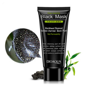 private label BIOAQUA bamboo charcoal face mask deep cleansing black mask for Blackhead