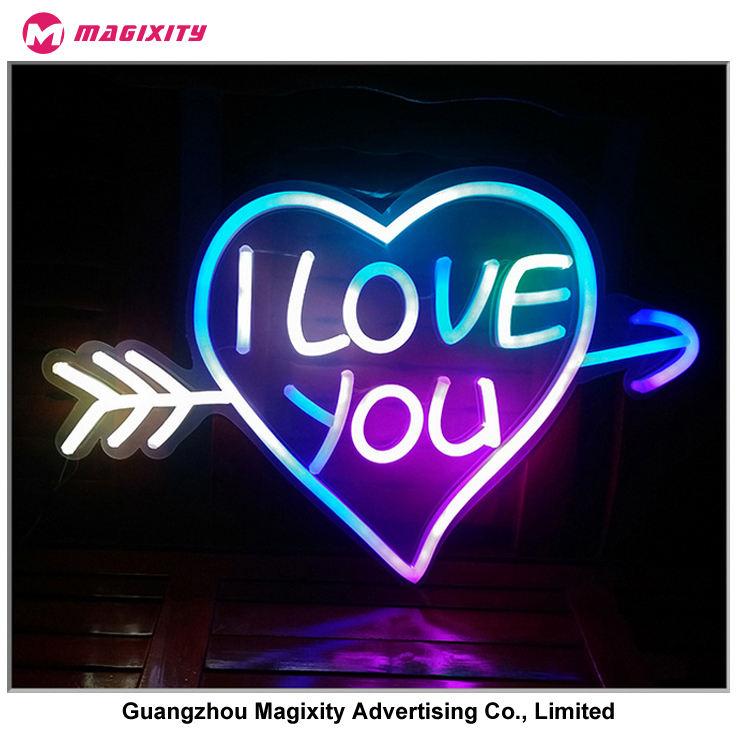 Amor feito sob encomenda do sinal de néon fabricante na China