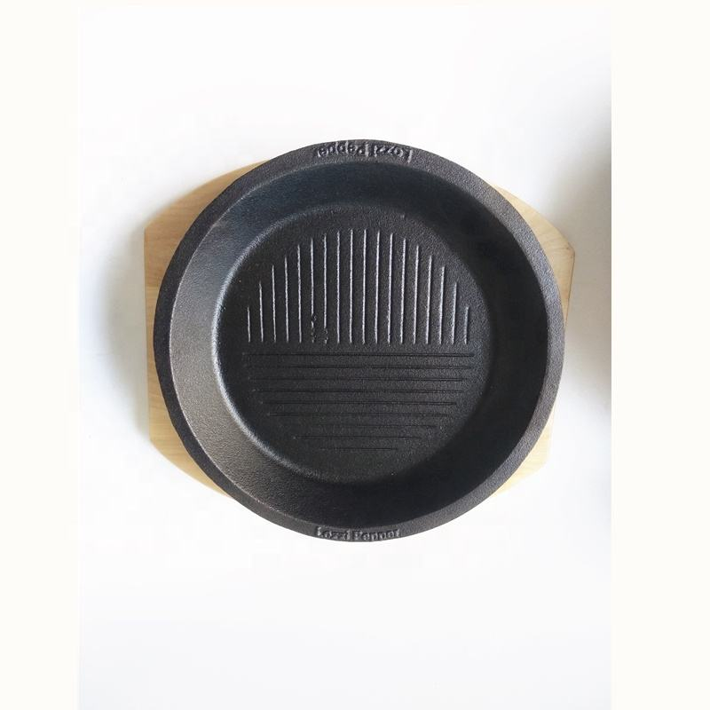 24cm Round cast iron sizzler plate/pepper pan