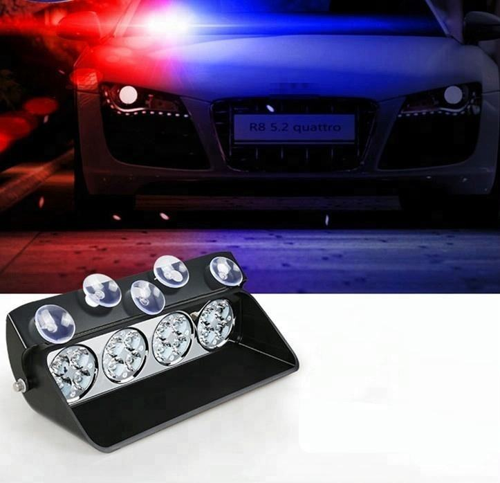 16LED Car Windshield Strobe Light Viper Flash Signal Emergency Fireman Police Beacon Warning Light