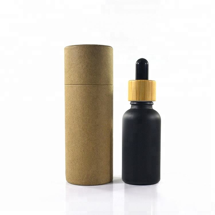 Supply 100% recycled custom cosmetic packing strong kraft cardboard 30ml 50ml white brown black paper tube