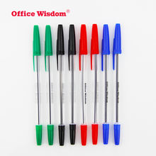 blue ink cheap 1.0 mm tip best writing ballpoint pen