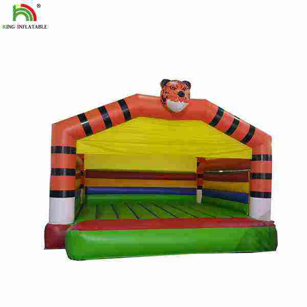Classic PVC Tiger Bouncing Castle Inflatable Tiger Jumper For Kids Fun