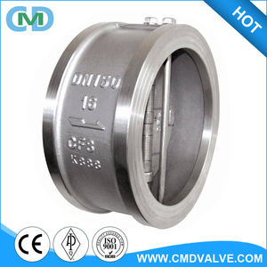 SS Stainless Steel CF8 DN150 PN16 Butterfly Disc Check Valve for Return Line