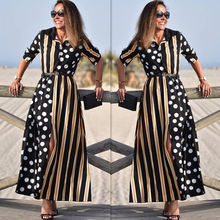 Wholesale 2018 fashion summer sexy ladies V-neck long sleeve Women Dresses (C18344)