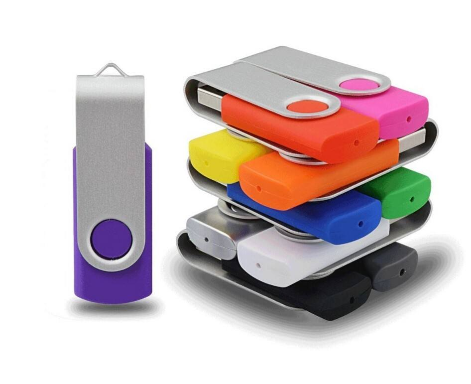 Full color printing custom Bulk 2gb Swivel USB Flash Drives Electronic gifts