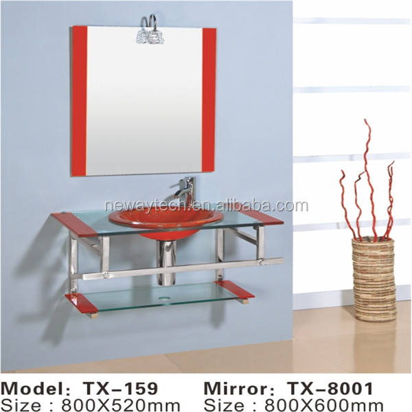 Wholesale wall mounted glass washbasin design,glass washbasin with mirror