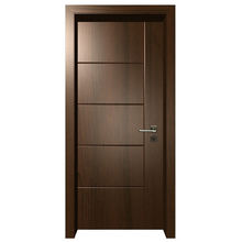 Prettywood American Latest Design Solid Core Wooden Black Walnut Veneer Interior Room Door