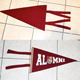 School Souvenirs Printing Felt Pennant,Embroidery Sports Flag,Soccer Team Football Felt Pennant