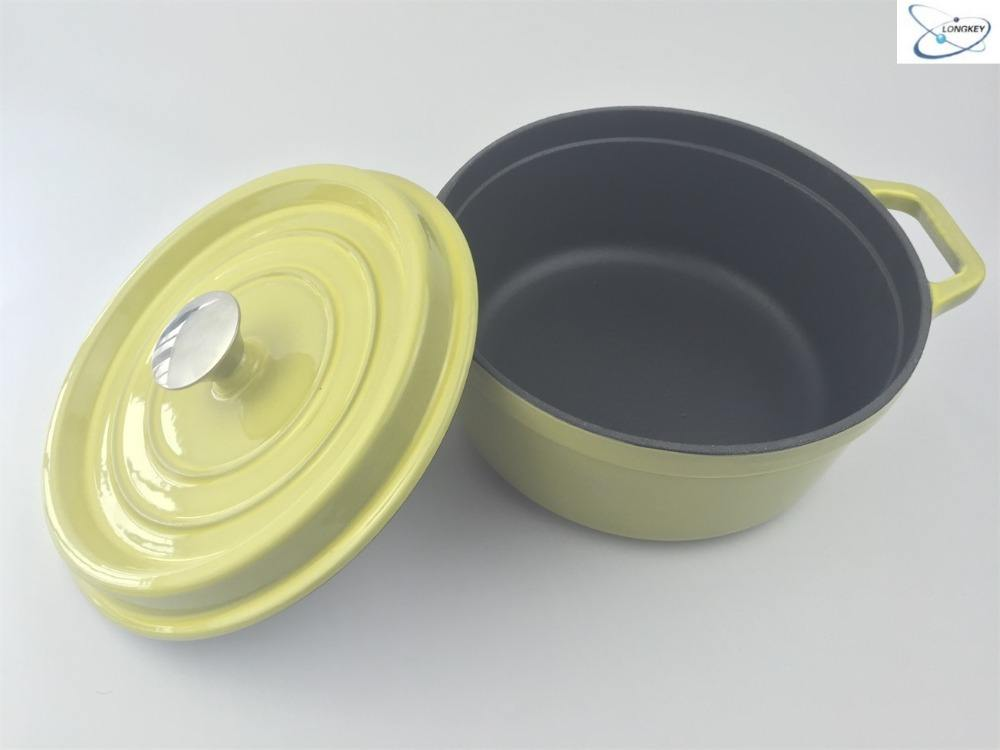 Non-stick gusseisen <span class=keywords><strong>mini</strong></span> cocotte/kasserolle