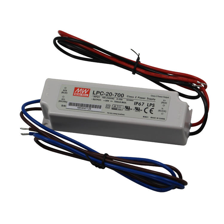 Meanwell IP67 LPC-20-700 20W Constant Current Outdoor Led Driver 20W 700mA