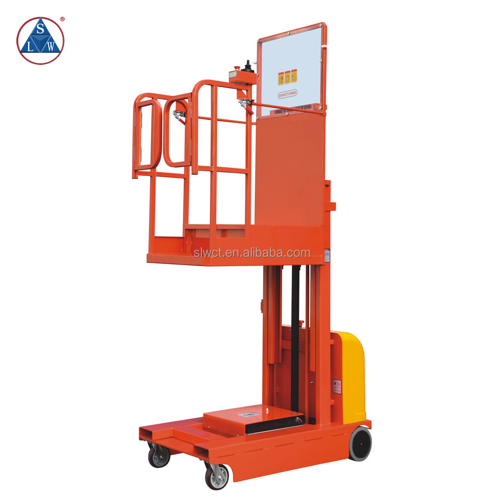 Movable Semi Electric Vertical Aluminum Material Aerial Order Picker