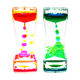 Acrylic floating colorful liquid timer