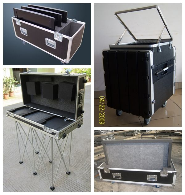 led suitcase aluminum flight case