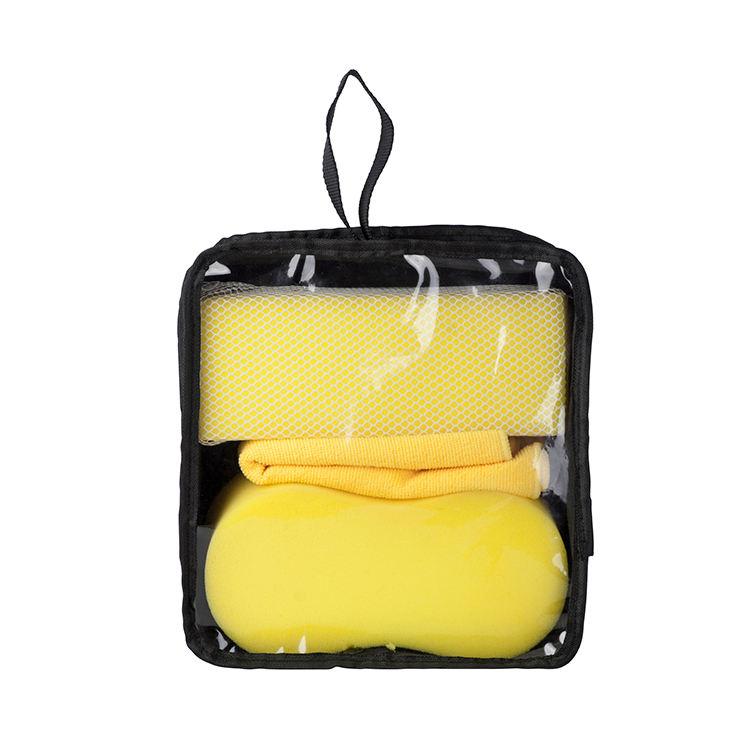 En gros de haute qualité trois pièces portable kit de lavage de voiture et de lavage de voiture ensemble