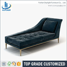 Living room sofa set dark blue velvet tufted chaise lounge