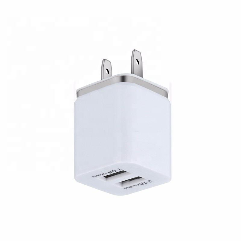 Travel Charger Adapter Electronic Accessories Dual Usb Wall Charger 2 Ports US Plug Adapter