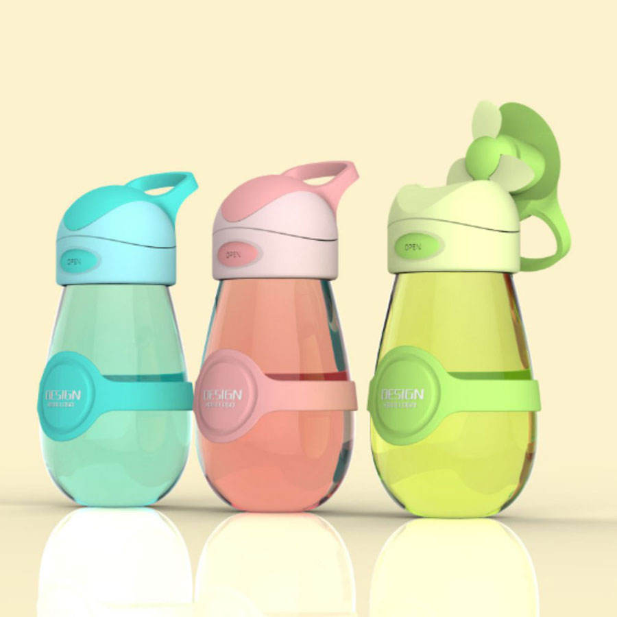 Novelty Fan cup Drink bottle gifts innovative latest return gifts for birthday kids
