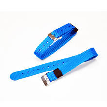 Single Color All-glossy Nylon Watch Bands With Stainless Steel Buckles Adjustable Webbing Buckles Straps Nylon Strap and Buckle