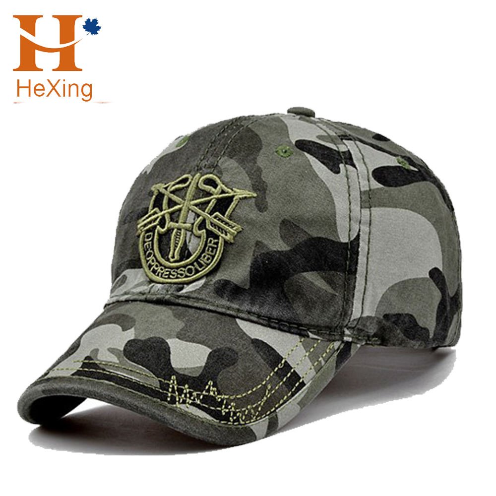 China Embroidery Pattern Logo 6 Panel Camo Hat Custom Camo Dad Hats