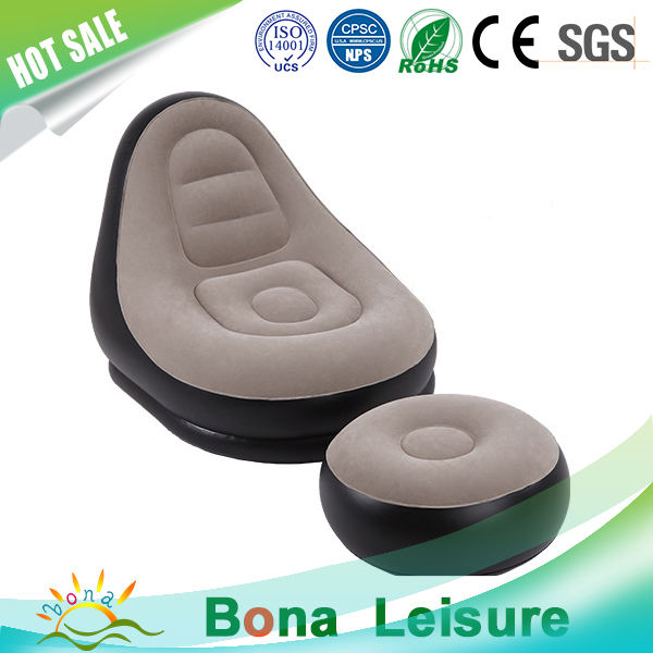 Durable PVC Flocked Comfortable Self Inflating Inflatable Chair Sofa