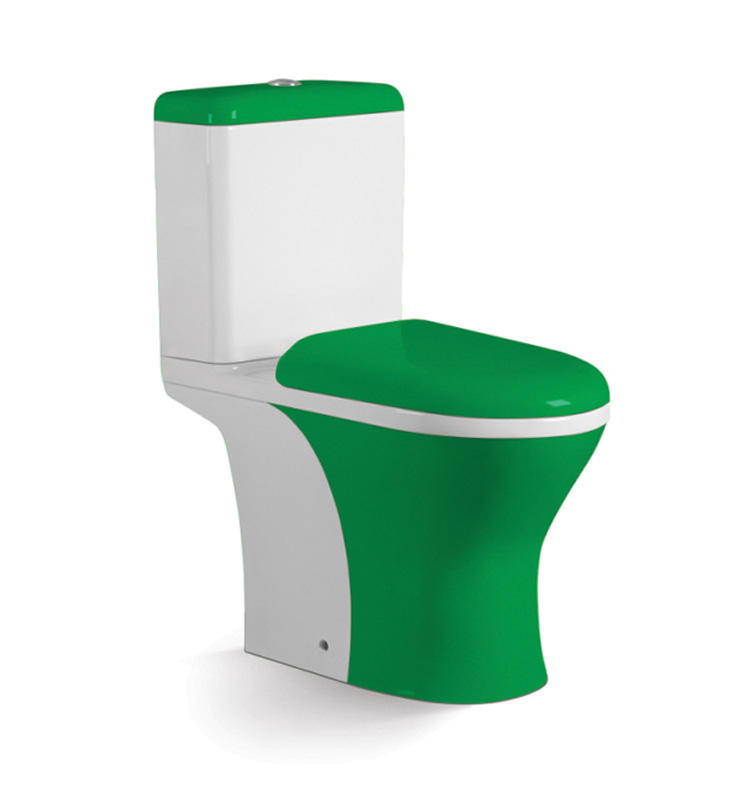 Top quality ceramic china wc luxury green colored toilets