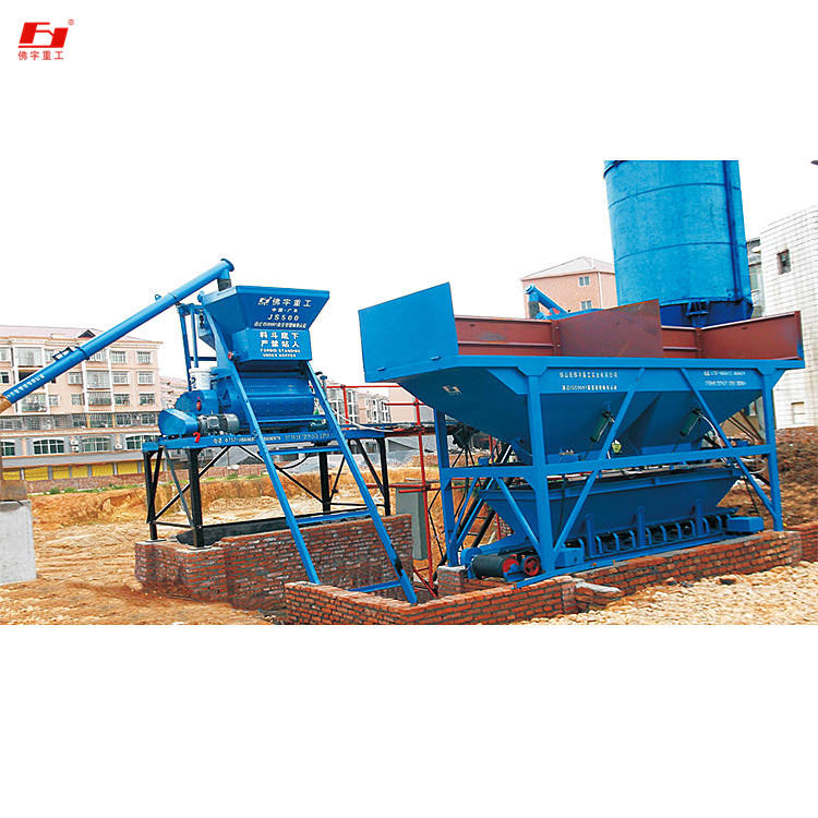 Graphic Customization Batch Plant Price Quality After-sales Service HZS25 Small Cement Plant Mixing Concrete Batching Plant For Sale