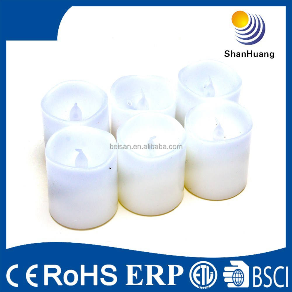 Precio de fábrica batería Pilar mini luz del té amarillo velas sin llama tealight