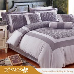 KOSMOS Bedding Embroidery Quilted Microfiber Cheap Comforter