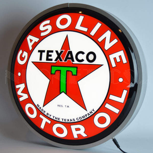 Texaco Ronde Led Licht Box Custom Motor Olie Led Neon Licht Glas Neon Light Sign Oem China Fabriek E