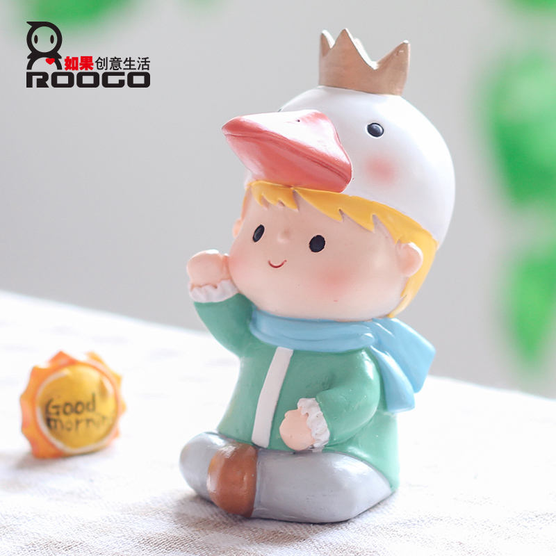 Príncipe creativo resina forma juguetes para accesorios para el hogar