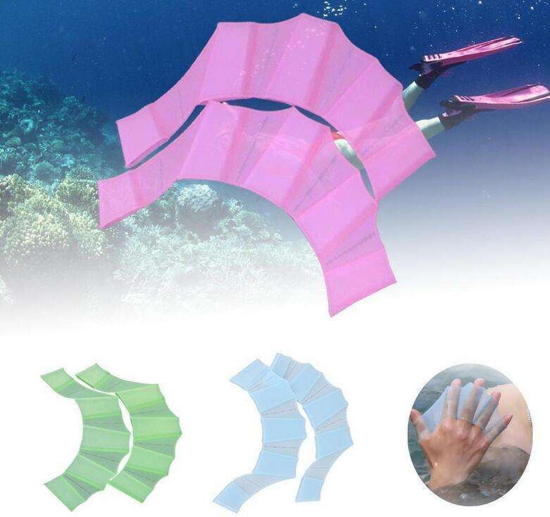 Silicone Swim Gloves Hand Webbed Flippers Training Finger Webbed Gloves