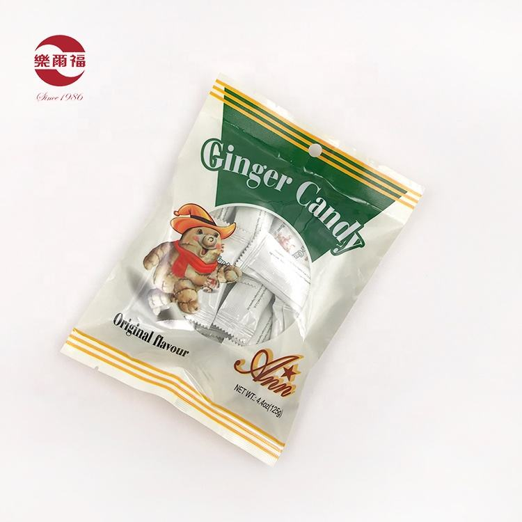 China factory 100% natural ginger candy original flavor sweet ginger soft candy