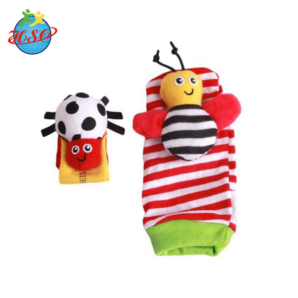 Soft Animal Rattles Infant Baby Wrist Rattle and Foot Rattles Socks Set