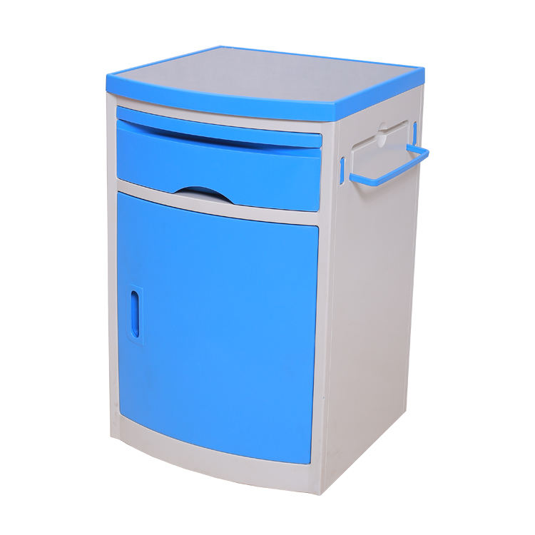 Hospital Furniture Medical ABS Plastic Hospital Cupboard Lockable Bedside Cabinet