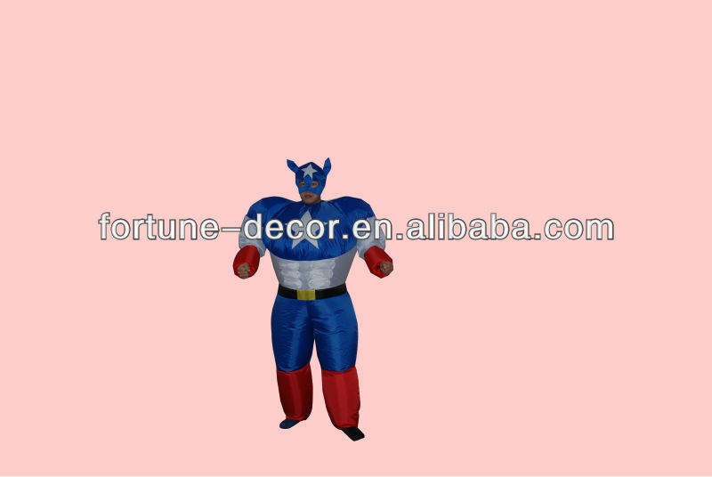 Inflatable Super man Party Costume men costumes