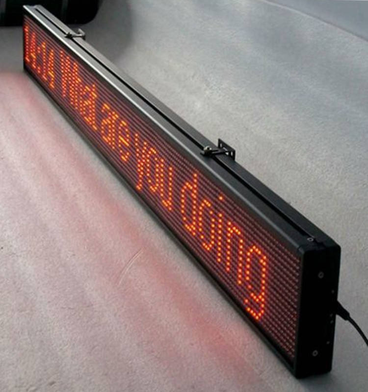 Shenzhen outdoor led running message moving scrolling p10 red led sign display