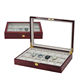 Luxury Glass Top High Glossy Wooden Watch Box For 18 Watches Storage