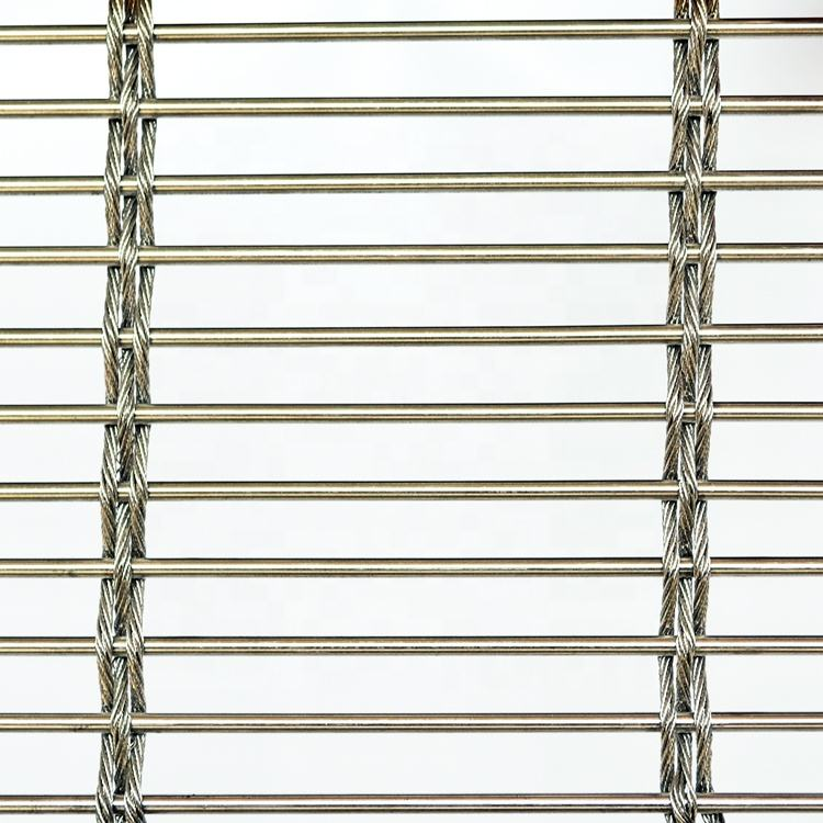 Custom stainless steel architectural Decorative metal rope wire mesh chain curtain