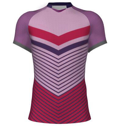 newest men professional sublimation printing rugby jersey with logo
