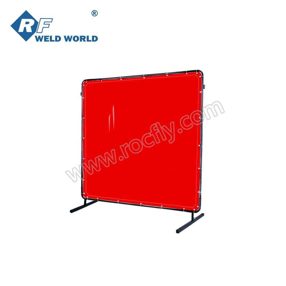 Green PVC Flame Retardant Welding Curtain Screen /& Frame Set 6ft x 6ft
