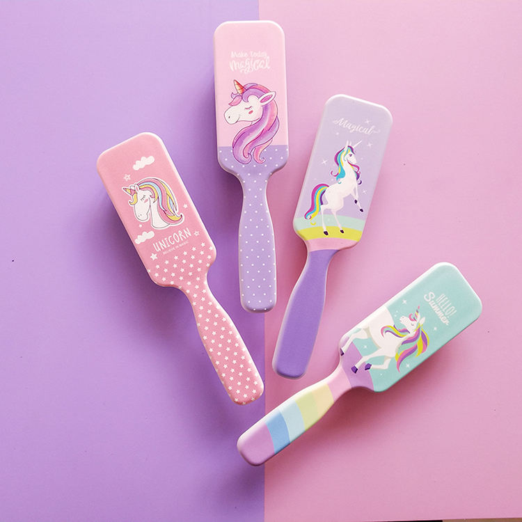 Fashion Mini Nylon Brush Kids Soft Plastic Custom Hair Brush For Gift
