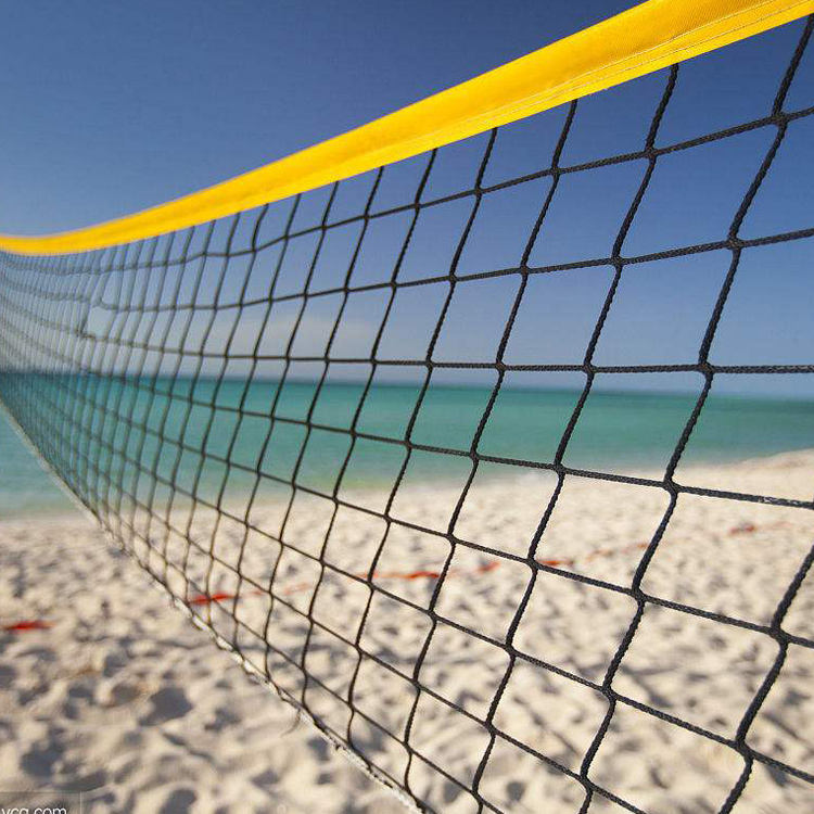 Taille Standard Pe Filet De Beach-Volley Antennes Mis En Plein Air