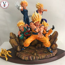 Factory Custom made best home decoration gift polyresin resin japan anime dragon ball z figure